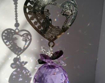 Lilac Crystal sun catcher