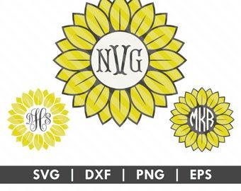 Sunflower SVG DXF Silhouette Cameo Cricut Cut File