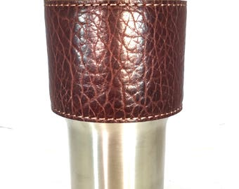 Yeti cup Leather Handle-American Bison