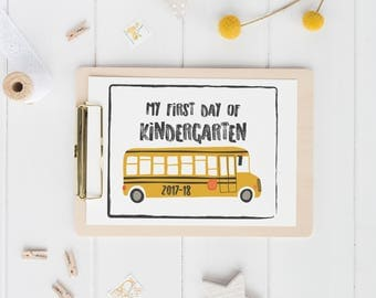 printable first day of school sign | black and white | back to school photo prop | digital download