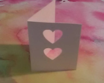 GIFT TAGS blank Two Hearts 25 pcs. WHITE.approx 1.75 x 2.5 inch folded/23sweets/wedding/rustic/party/gift/ tags/scrapbooking/paper