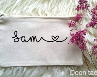 Personalised Make up bag, Wedding Present, Love Island , January SALE OFFER, personalized cosmetic bag, make up bag, Hen Party gift, bride