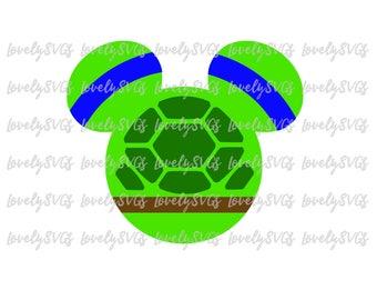 Mickey Ninja Turtle - Studio3 & SVG File - Instant Download - Silhouette Cricut