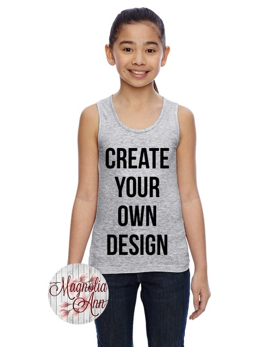 Girls Tank Top, Custom Girls Tank Top, Kids Tank Top, Kids Custom Tank, Custom Shirts for Kids, Custom Clothing,Kids T Shirt, Custom Kids
