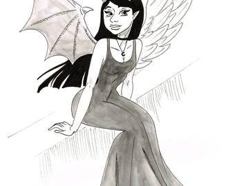 Angel : Devil -inktober 2017-