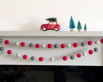 Christmas Tree Garland, Traditional Christmas, Scandinavian Christmas Decor, Holiday Decor, Nordic Christmas,