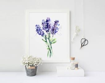 Lavender Wall Art lavender wall art | etsy