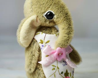 Gift for daughter birthday gift Miniature elephant toy for Blythe ooak artist teddy elephant