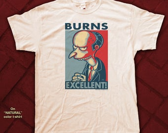 "BURNS ""HOPE"" style T-Shirts - pre shrunk 100% cotton, short sleeve t-shirt - Mr. Burns - The Simpsons"