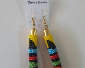 maasai earrings / beaded earrings / colorful earrings / african earrings