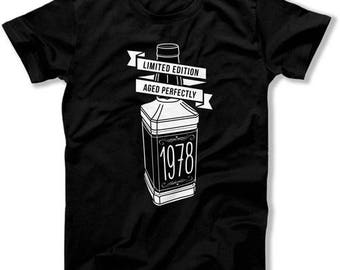 Funny Birthday T Shirt 40th Birthday Gifts For Dad Birthday Shirt Custom Year Limited Edition Aged Perfectly 1978 Birthday Mens Tee DAT-1498