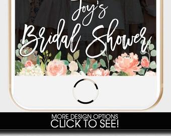 Bridal Shower Snapchat Filter, Bridal Shower Snapchat Geofilter, Bridal Shower Snap Chat, Bridal Shower Geofilter, PEACH BRIDAL SHOWER