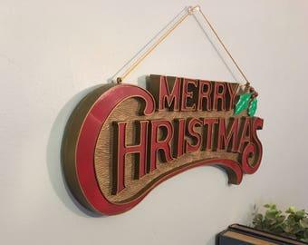 Vintage Christmas Wall Hanging