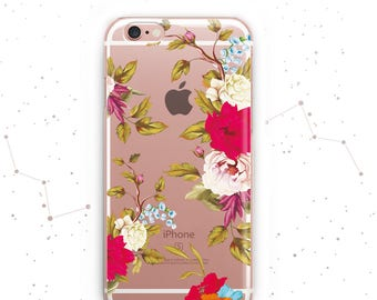 Samsung S8 Case Floral iPhone 6s Cover Samsung S6 Edge Case Flower iPhone 7 Plus Case Samsung Galaxy S5 Case