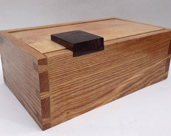 Rutherford – small desk top box, can customise it in wood and interior. Handmade, fine wood  box, contemporary.