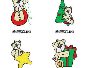A-Bear-Christmas  ( 7 Machine Embroidery Designs from ATW ) XYZ17K