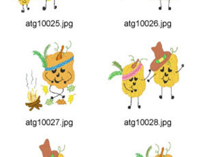 Pumpkin-Thanksgiving  5X7 ( 10 Machine Embroidery Designs from ATW ) XYZ17I