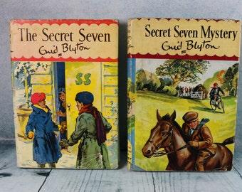 Two Vintage Secret Seven HB books by Enid Blyton