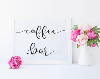 Coffee Bar Sign - Coffee Bar - Coffee Sign - Coffee Bar Decor - Wedding Coffee Bar - Coffee Bar Sign Printable