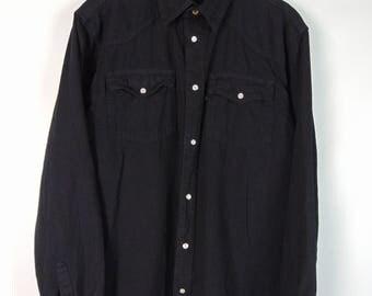 Vintage Black Denim Shirt