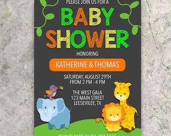 Jungle Baby Shower Invitation - CUSTOM DIGITAL DOWNLOAD