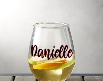 Wine Glass - Personalized Glass - Personalized Gift - Wedding Gift - Bridal Party Glasses - Party Glass - Fashion - Drinking Glasses