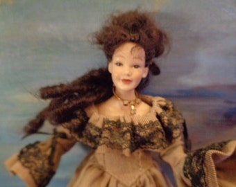 HEIDI OTT doll 14cm/90s/For doll house/Very hard to find/Original Complete