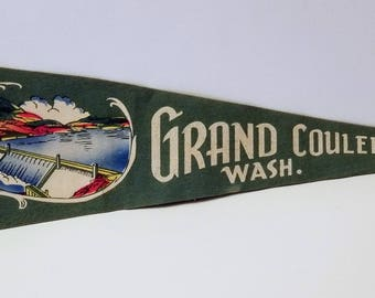Grand Coulee Dam, Washington - Vintage Pennant
