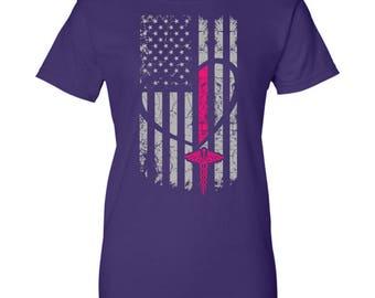 Nurse Gift T-Shirt - Nurse Flag - Gift for Nurses Graduation - Nurse Appreciation, Nurse Shirt - Nurse Tee, Nurse T Shirt, Nurse Flag Shirt