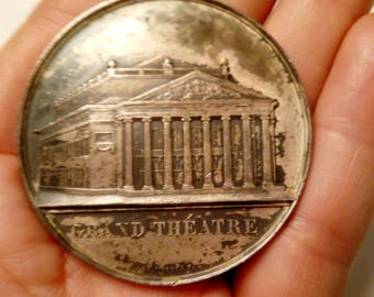 Medal 1855 fire and reconstruction of the Grand Theatre