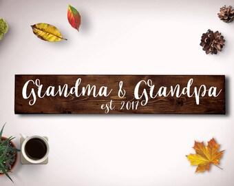 Pregnancy Reveal to Grandparents, Grandma and Grandpa Sign, Grandparents Sign, Grandmother Gift, Grandfather Gift, Grandparents to be,