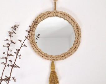 Bohemian round mirror