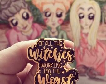 Witches Enamel Pin