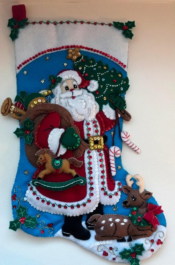 Santa Claus Felt Stockings Bucilla Designs Page Four