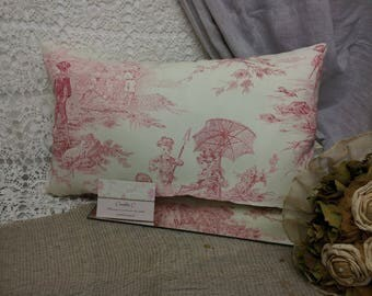 John C French toile de jouy romantic pillow.