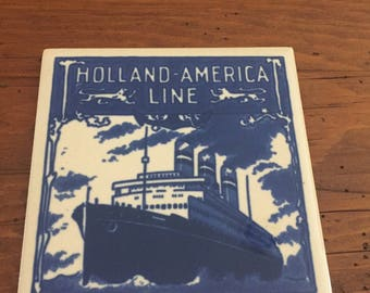 Vintage Holland American Line coasters/tiles