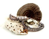 Heady wire wrap boho necklaces for women, wire wrapped pendant necklaces zodiac jewelry gift, trippy glass pendant April Birthstone