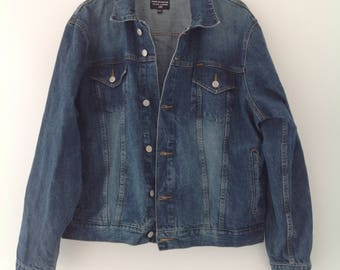 Vintage denim jacket, vintage jean jacket, Ralph Lauren jacket, jean jacket, men's jacket, oversized jacket, ladies jacket. denim jeans