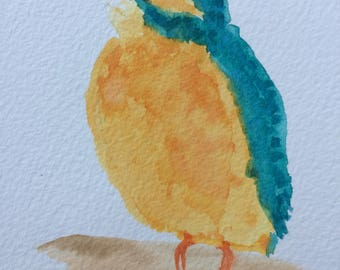KINGFISHER handmade original watercolour painting