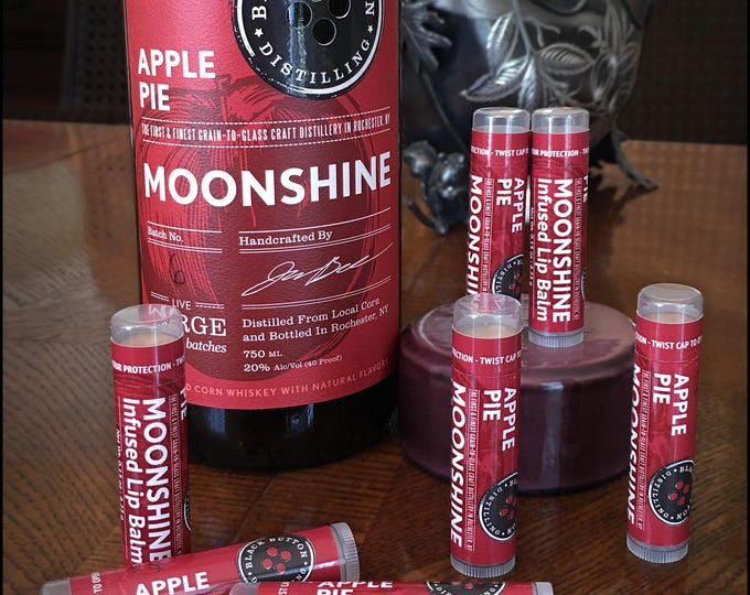 Featured listing image: Black Button Distilling Apple Pie Moonshine Infused Lip Balm by Cire d'Abeille - Gluten Free