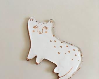 Ceramic leopard ring dish, tray, home decor