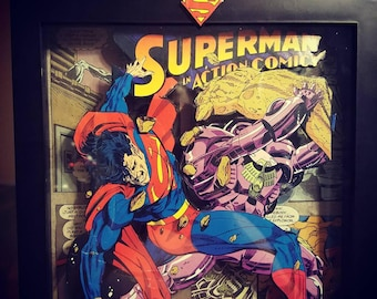 Wall art Superman 3d shadow box frame