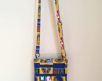 Small CrossBody Purse Golden State Warrior Cross Body Bag Small Purse, NBA Basketball Fabric, Basketball Gifts for Travel Gifts for Mom