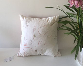 Soft Floral Pillow Case,flower decorative pillow, embroidery pillow, ethical interior design, minimalist pillow case, xmas gift for mom