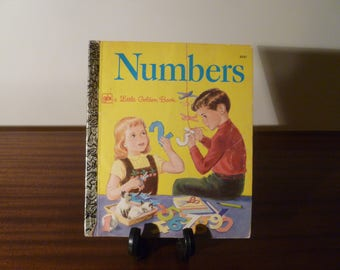 "Vintage 1977 Children's Book ""Numbers"" - A little Golden Book / Kids Book / Retro Kids Book / Learning To Count"