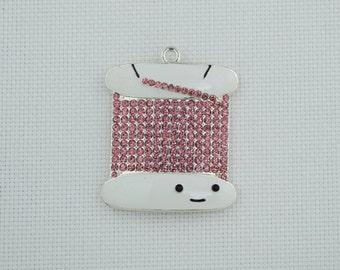 Pink Bobbin Needle Minder / Floss Needleminder