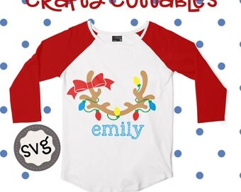 Cute Reindeer antlers svg, Christmas svg, SVG, DXF, EPS, Christmas svg, svg, grinch svg, cut file, Christmas svg, monogram svg
