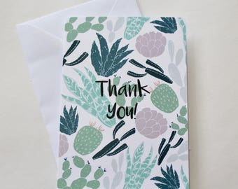 Cacti Thank you A6 Greeting card