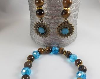 Unique Earring and Bracelet Set