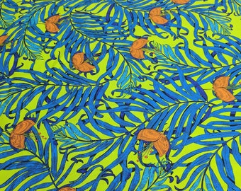 The Garden of Earth-Palms Cotton Fabric from Studio KM for Free Spirit Fabrics